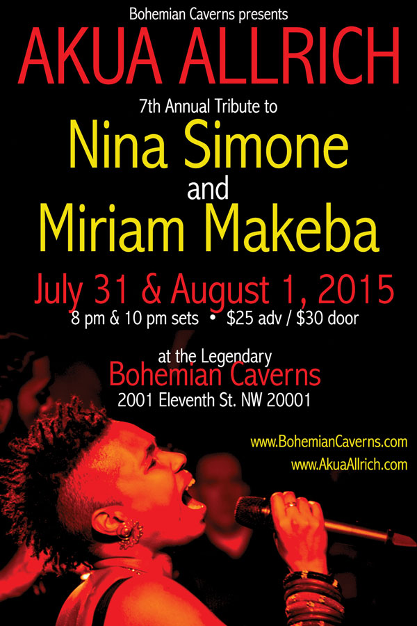 AKUA s 7th Annual Nina Simone Miriam Makeba Tribute! 7 31   8 1 ... bf0e77022b